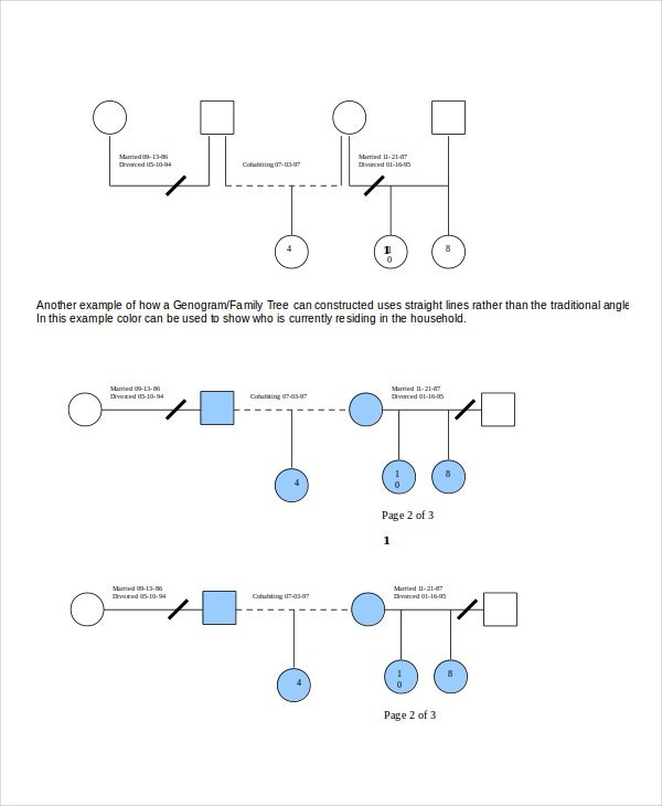 Genogram template 16 free word pdf documents download for Family history genogram template