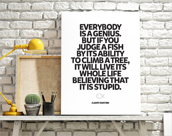 Everybody Is A Genius Motivational Poster