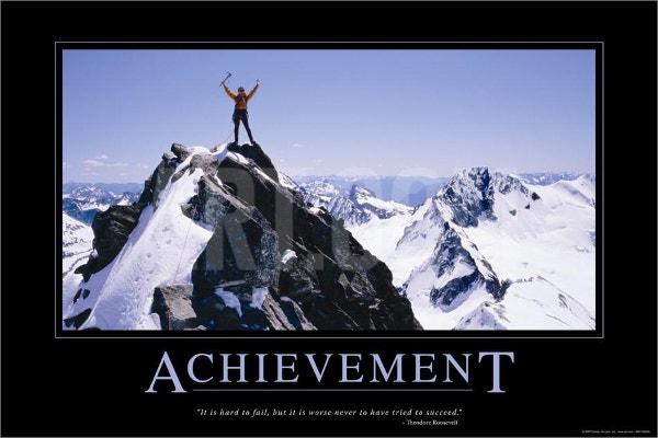 achievement motivational poster