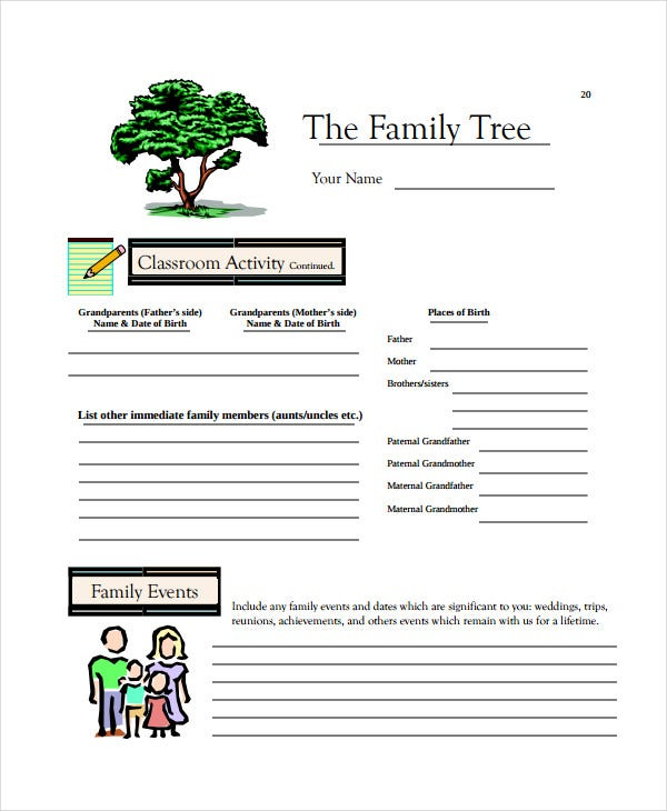 fillible family tree template