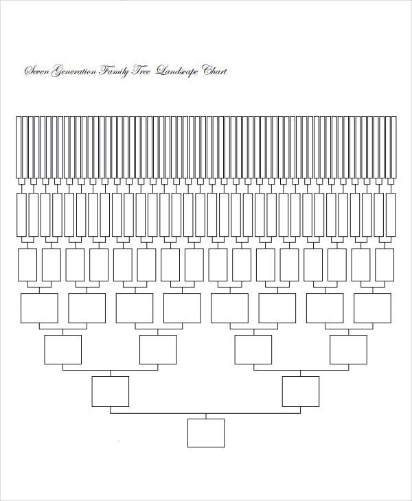 7 generation family tree template
