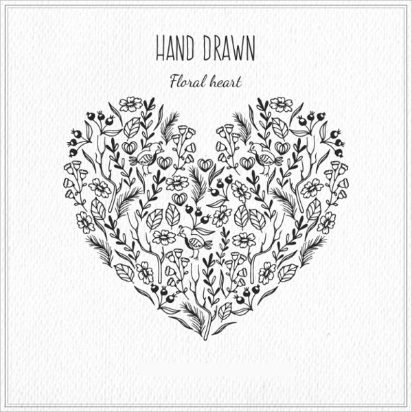 floral-hand-drawn-heart