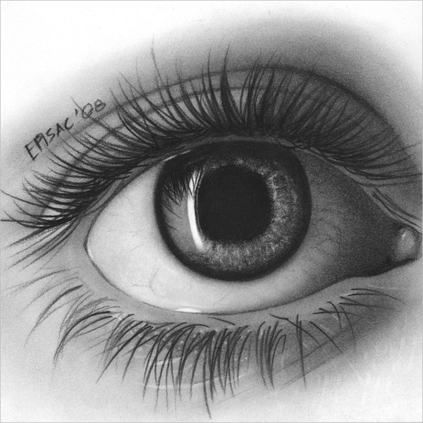 girl eye drawing