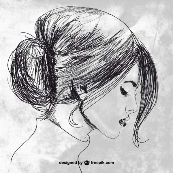 hand-drawn-beautiful-woman-drawing