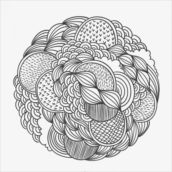 hand drawn patterned circle
