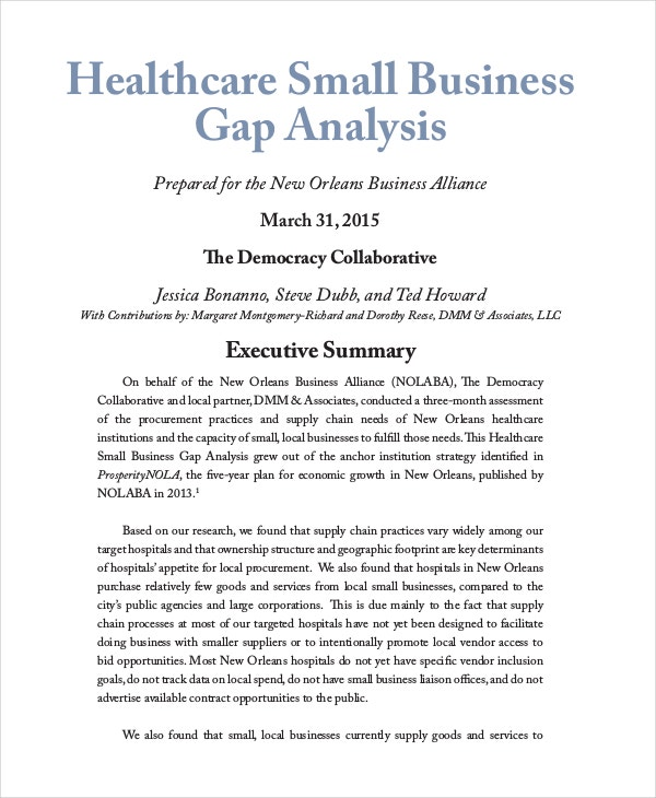 healthcare-small-business-gap-analysis
