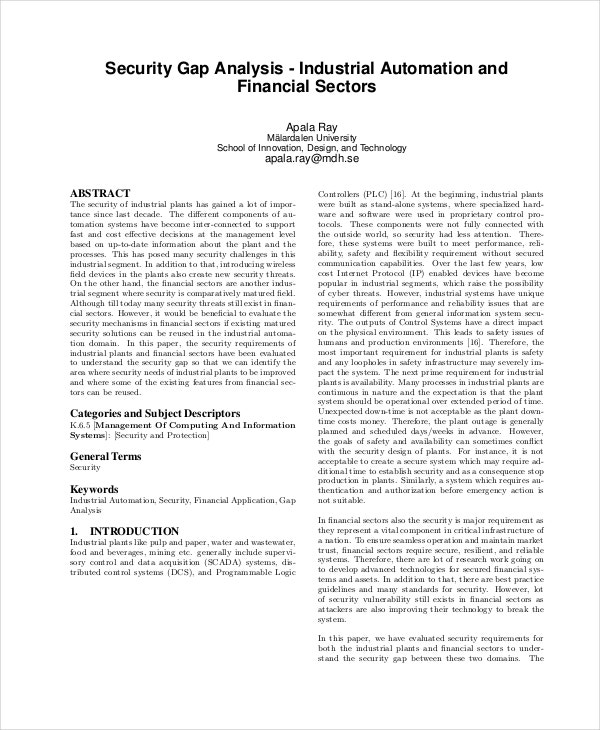 security-gap-analysis-template