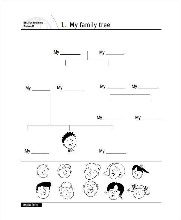 preschool family tree template - family tree template my