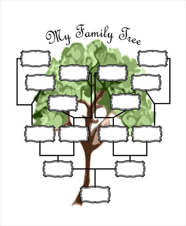 19 family tree templates free premium templates for Preschool family tree template