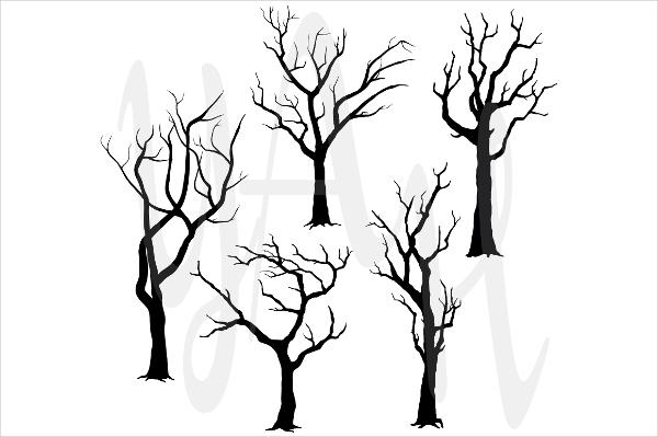 Tree Silhouettes Clip art