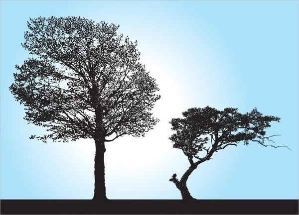 Tree Silhouette Vectors