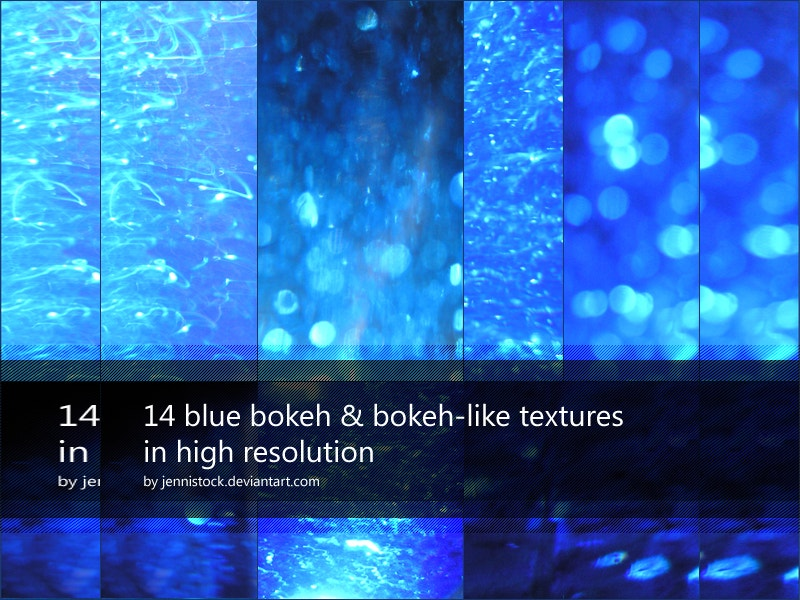 14 Blue bokeh by JenniStock