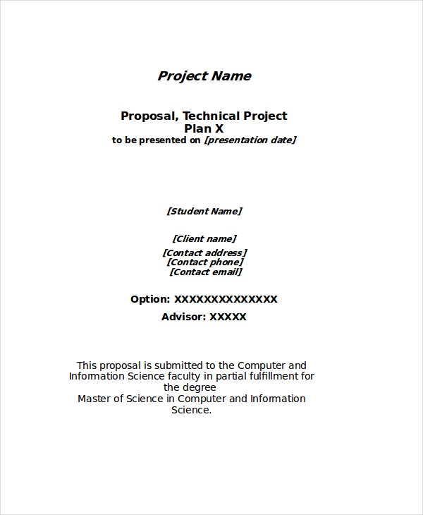 Awesome Technical Project Proposal Template
