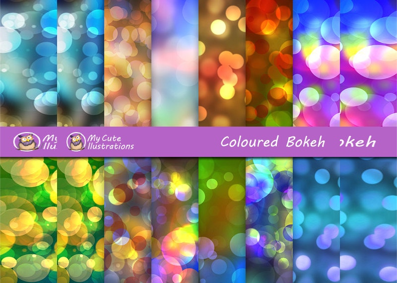 Rainbow Bokeh Digital Texture