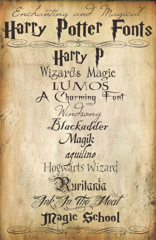 14  free harry potter fonts
