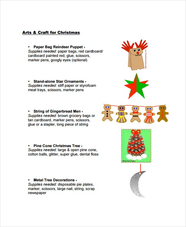 Christmas Tree Craft Template