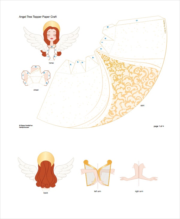Christmas Tree Angel Template