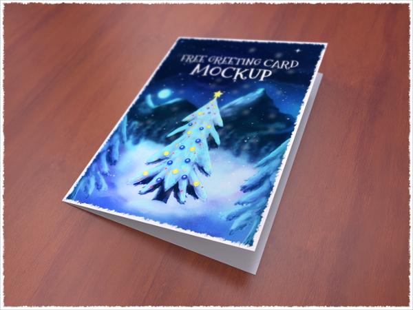 Free Greeting Card Mockup PSD