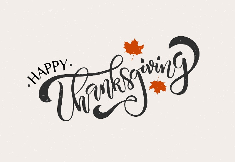 Happy Thanksgiving Lettering Typography