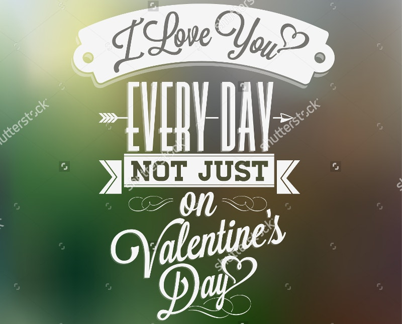 valentines day hand lettering typography