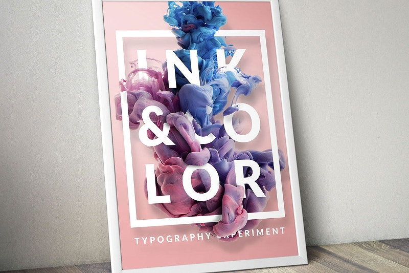 ink typography design mockup