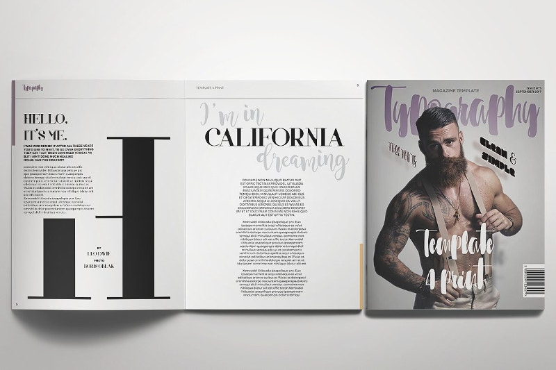 fashion typography magazine