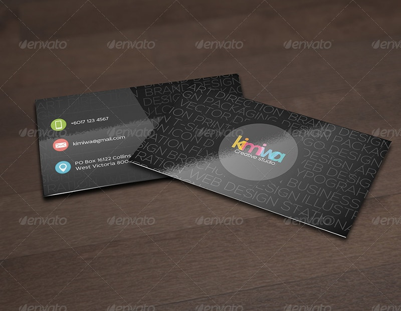 Elegant Typography Business Card