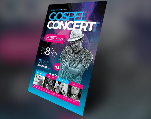 Cosmic Gospel Concert Flyer