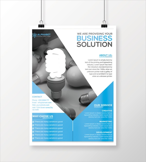 business solution flyer