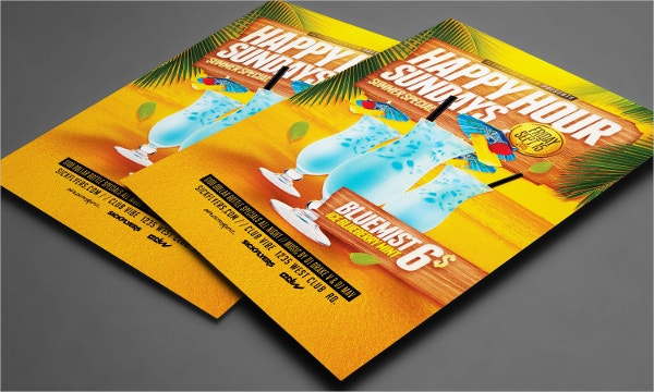 summer happy hour flyer template