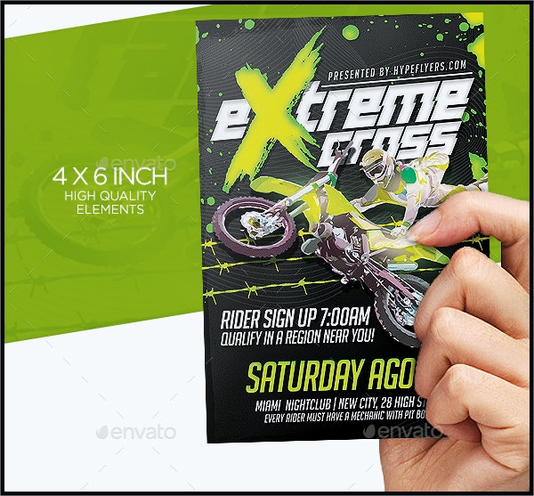 Dirt Bike Event Flyer Template