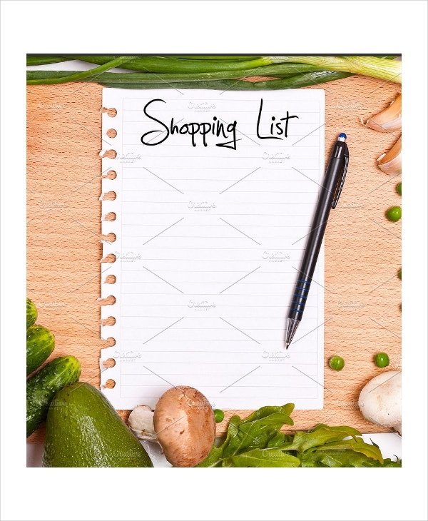 food grocery shopping list