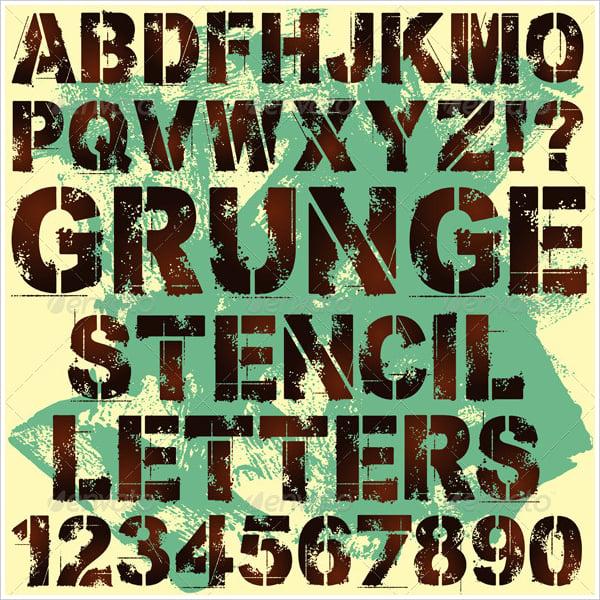 stencils letters template