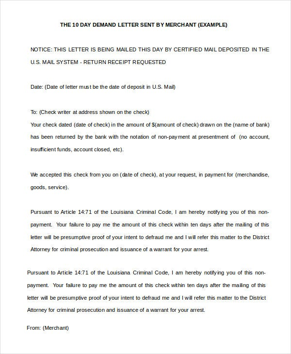 Demand Letter   Free Word Pdf Documents Download  Free