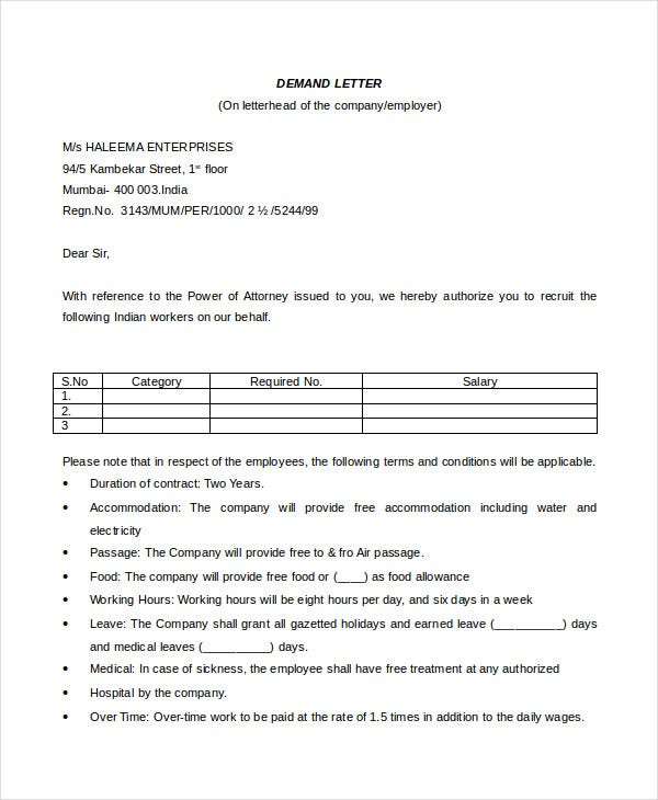 Demand Letters Sample Claim Letter Company Claim Letter Sample