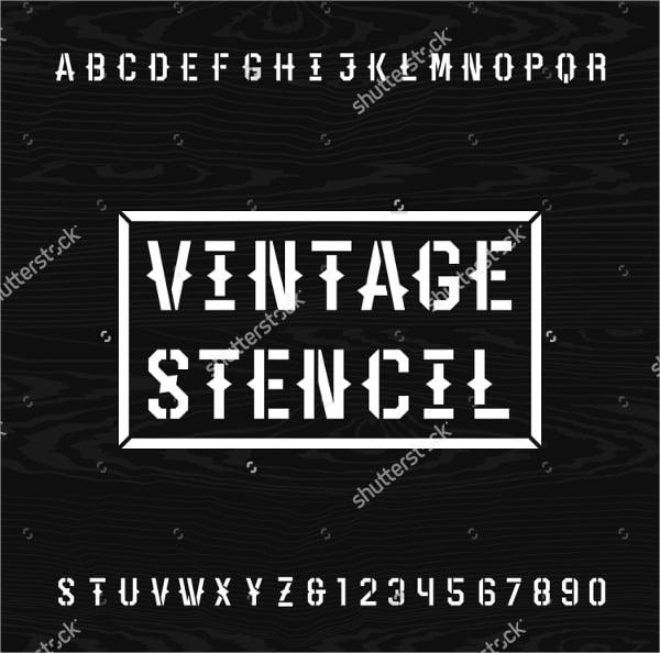 western-style-retro-letter-stencil