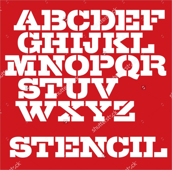 military-letter-stencil-typeface