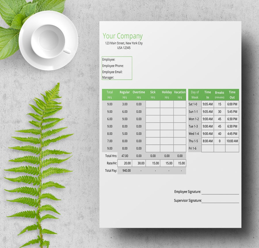 Free Time Sheet Templates  Daily Monthly Weekly BiWeekly