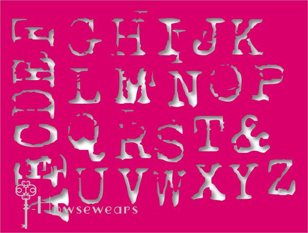 Craft Letter stencil