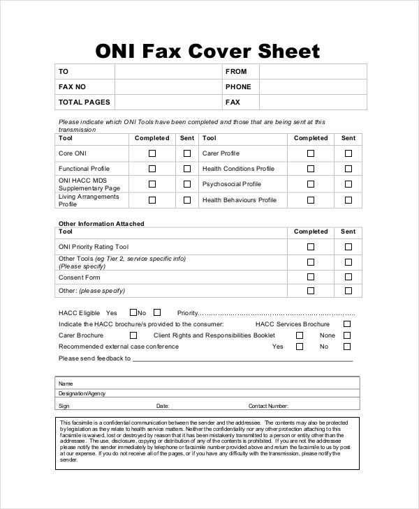 Fax Cover Letter   Free Word Pdf Documents Download  Free
