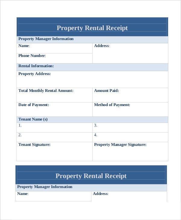 Rent Receipt 9 Free Word PDF Documents Download – Rent Recipt