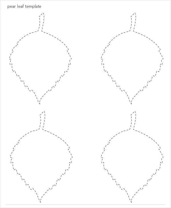pear leaf template