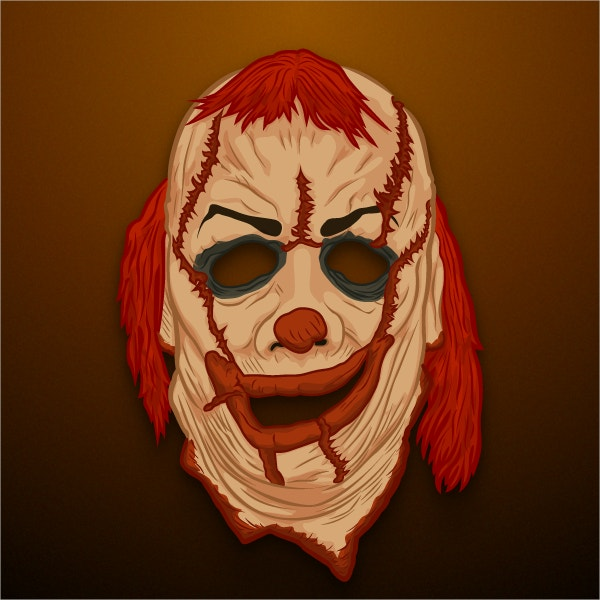 The gallery for clown mask printable for Joker mask template