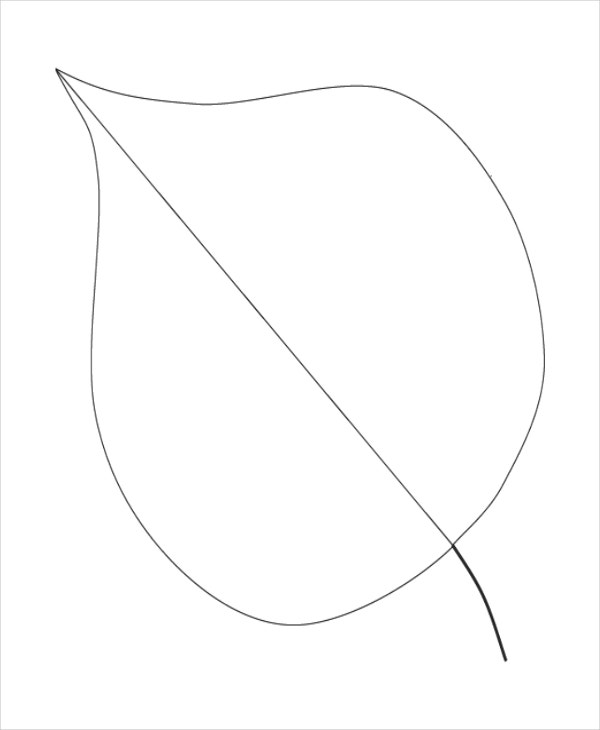 autumn leaf template