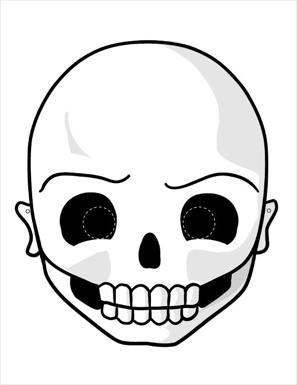 printable children scary mask