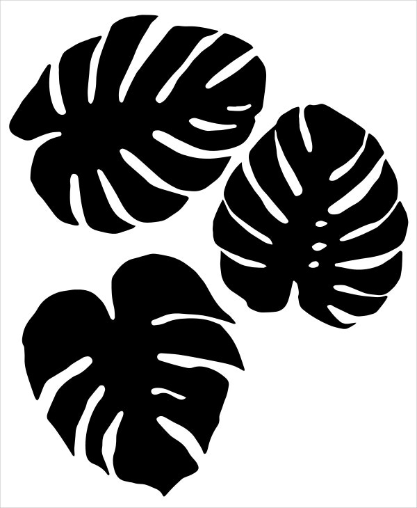 tropical leaf template download