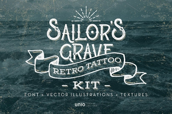 Sailor's Grave Tattoo Font