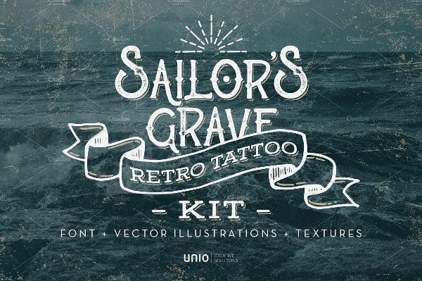 sailors grave tattoo font