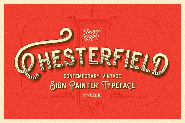 chesterfield tattoo font