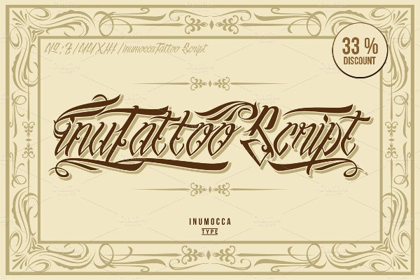 INU Tattoo Script Font